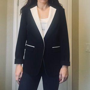 Mossimo black & white blazer Small